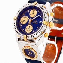 Breitling Blue Angels Chronomat UTC Edelstahl/Gold an Lederban...