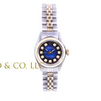 Rolex Ladies 2tone Oyster Perpetual Watch - Blue Vignette...