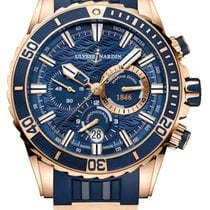 Ulysse Nardin Diver Chronograph Rose gold 44mm Blue United States of America, New York, Airmont
