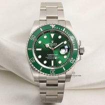 "Rolex Full Set Rolex Submariner ""Hulk"" 116610LV Stainless Steel"