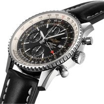 Breitling Navitimer World Steel 46mm Black Arabic numerals