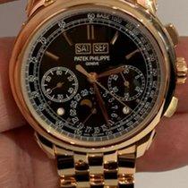 Patek Philippe Perpetual Calendar Chronograph Ροζέ χρυσό 41mm Μαύρο Ελλάδα, iraklio