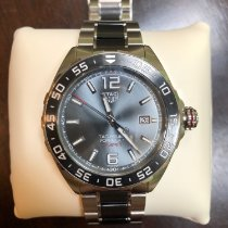 TAG Heuer Steel Automatic Grey 43mm pre-owned Formula 1 Calibre 5