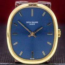 Patek Philippe Golden Ellipse Жёлтое золото 32mm Синий