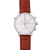 IWC Portugieser Chronograph gebraucht 41mm Weiß Chronograph Doppelchronograph Dornschließe