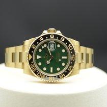 Rolex GMT-Master II Жёлтое золото 40mm Зелёный Без цифр