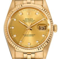 Rolex Datejust Žluté zlato 36mm Zlatá Bez čísel
