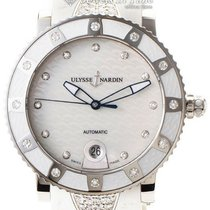 Ulysse Nardin Lady Diver pre-owned 40mm Mother of pearl Rubber