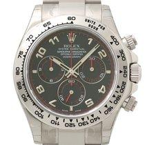 Rolex Cosmograph Daytona 18k Weißgold Ref. 116509 Ziff Schwarz