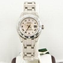 Rolex Lady-Datejust Pearlmaster Oro blanco 29mm Madreperla Romanos