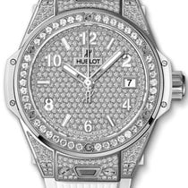 Hublot Big Bang One Click in Steel with Diamond Bezel - on W
