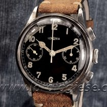 Lemania Step-case Original Vintage 1940`s Steel Chronograph...