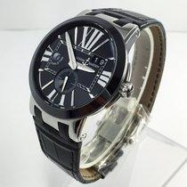 Ulysse Nardin Executive Dual Time Steel 43mm Black Roman numerals