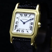 Cartier Santos Dumont Paris Square 18K Yellow Gold 15751