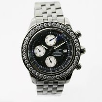 Breitling Chronomat Evolution Steel 44mm Black Roman numerals