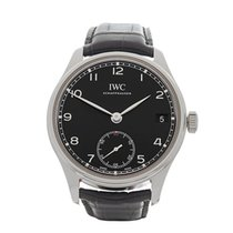 IWC Portuguese Hand Wound Eight Days Stainless Steel Men's...