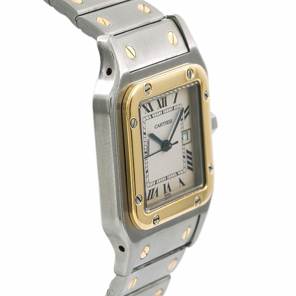 45cacb64a16a Cartier 1172961 Santos Galbee Mens Vintage Two Tone Ss... for R ...