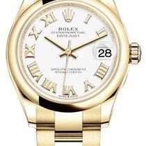 Rolex Datejust Oro amarillo 31mm Blanco
