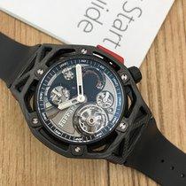 Hublot Techframe Ferrari Tourbillon Chronograph nuevo 45mm Carbono