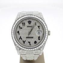 Rolex Datejust II Staal 41mm Zilver Arabisch