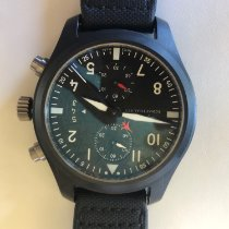 IWC Pilot Chronograph Top Gun Ceramic 46mm Black Arabic numerals