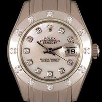 Rolex Lady-Datejust Pearlmaster Złoto białe 29mm Masa perłowa