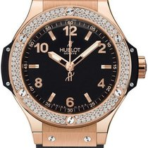 Hublot Roségold Quarz Schwarz 38mm neu Big Bang 38 mm
