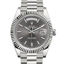 Rolex Day-Date 40 White gold 40mm Grey No numerals United Kingdom, London