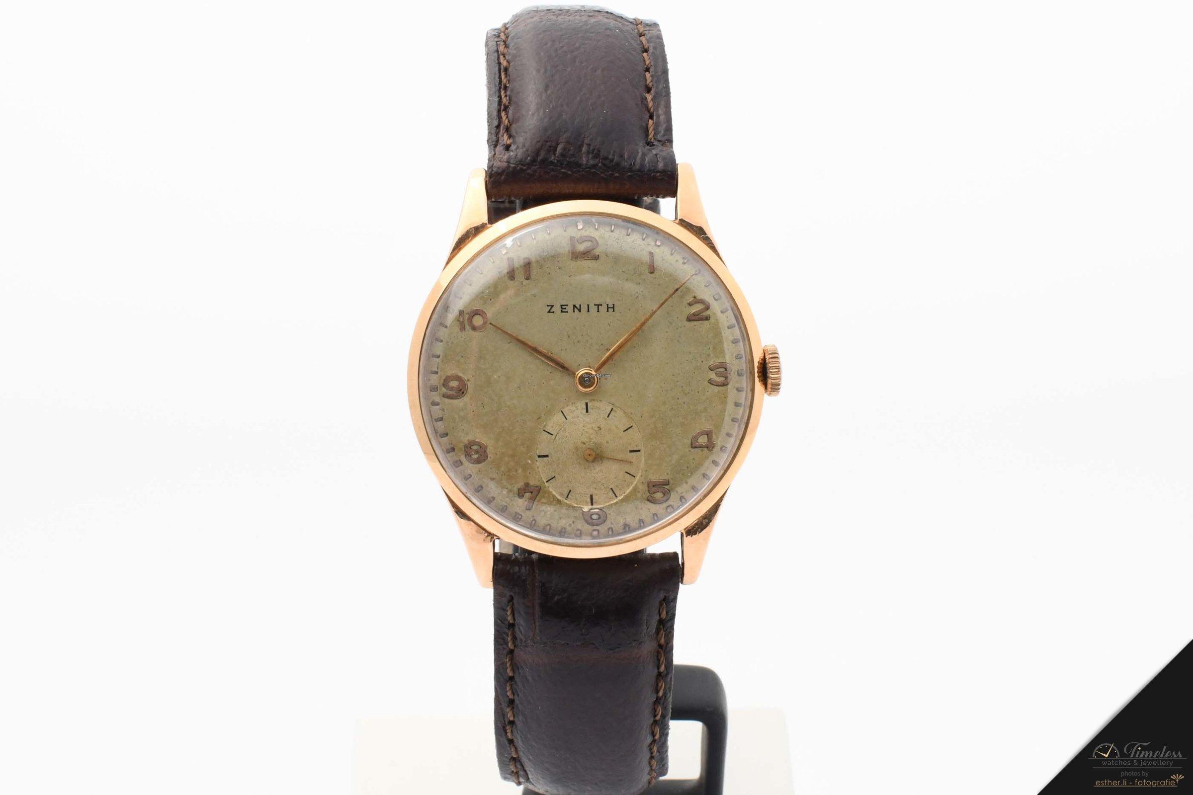 Zenith Vintage Armbanduhr 18k Rosègold Handaufzug für 790