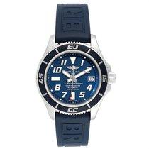 Breitling Superocean 42 Stahl 42mm Blau Arabisch