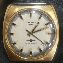 Longines Zuto zlato 43mm Bjel Bez brojeva