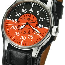 Fortis Flieger Cockpit Orange Automatic