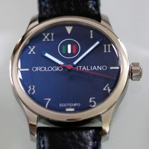 Egotempo Steel 45mm Automatic Blue secondi centrali rossi new