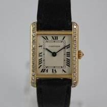 Cartier Tank 18k. Gold Diamond #K2964 Faltschließe, Box