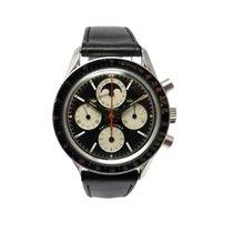 Universal Genève Chronograph 36mm Handaufzug 1970 gebraucht Compax Schwarz