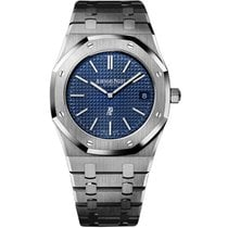 Audemars Piguet Royal Oak Jumbo Steel 39mm Blue No numerals