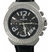 Lancaster Italy Diamonds Watch Pillo 0.86 CT Chronograph Black