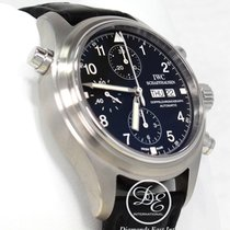 IWC Spitfire Pilot's Rare Watch 42mm Doppelchronograph Iw3713...