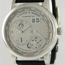 A. Lange & Söhne pre-owned Manual winding 42mm Silver Sapphire Glass