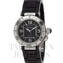 Cartier Pasha Seatimer pre-owned 40.5mm Black Date Steel