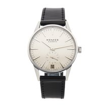 NOMOS Zürich Datum pre-owned 39.8mm Silver Date Leather