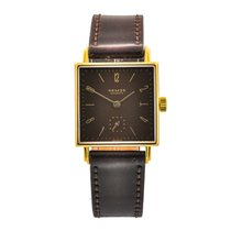 NOMOS Yellow gold Manual winding Brown Arabic numerals 2,7mm pre-owned Tetra 27