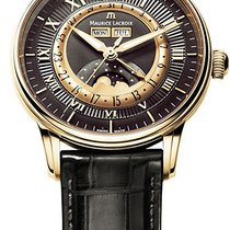 Maurice Lacroix Masterpiece Phases de Lune Rose gold 40mm Black