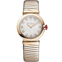 Bulgari Lucea Gold/Steel 28mm Mother of pearl No numerals