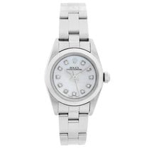 Rolex Oyster Perpetual pre-owned 24mm Mother of pearl Steel