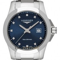 Longines Conquest Steel 29.5mm Blue