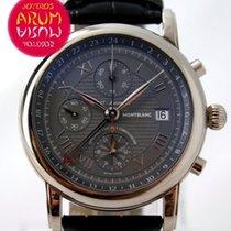 몽블랑 화이트골드 자동 회색 로마숫자 42mm 중고시계