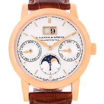 A. Lange Sohne Saxonia Annual Calendar 38.5mm Rose Gold Watch...