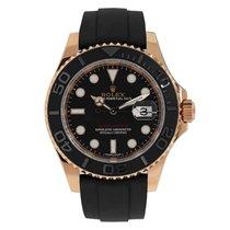 Rolex YACHT-MASTER 40 Everose Gold Black Ceramic Oysterflex...