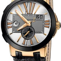 Ulysse Nardin Executive Dual Time Rose gold Silver United States of America, New York, Brooklyn